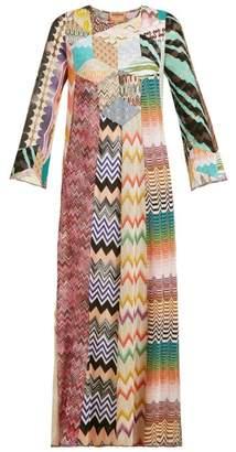 Missoni Lace And Patchwork Kaftan Maxi Dress - Womens - Pink Multi