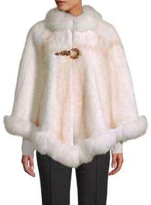"""Made for Generationsâ""""¢ Natural Mink & Fox Fur Cape"""