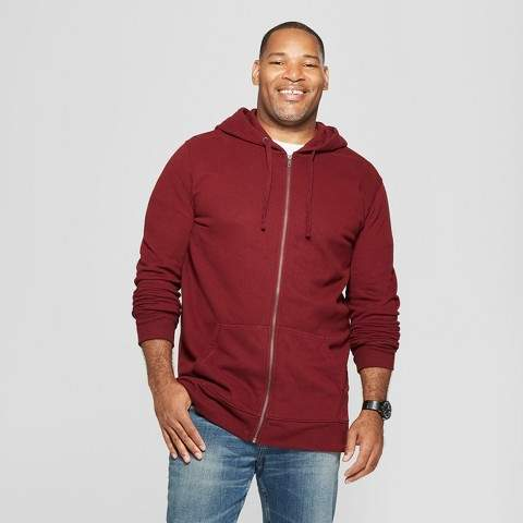 Goodfellow & Co Men's Big & Tall Long Sleeve Fleece Full Zip Hoodie