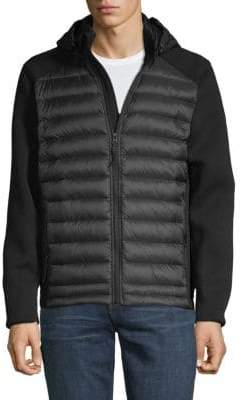 Saks Fifth Avenue Mixed Media Hooded Vest