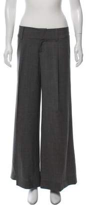 Alice + Olivia Mid-Rise Wide-Leg Pants
