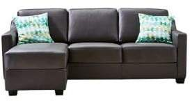 Home Studio Nelia Leather Sofa with Chaise
