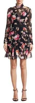 Nicholas Lucile Floral Silk Dress