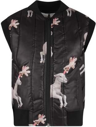 Caroline Bosmans Black Girl Vest With Sheeps