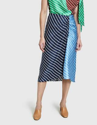 Tibi Delphina Stripe Skirt