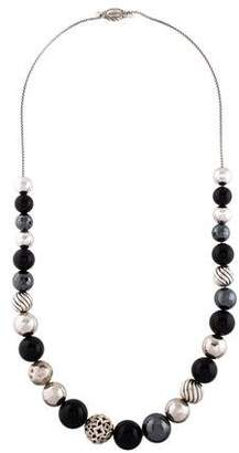David Yurman Onyx & Hematite DY Elements Bead Necklace