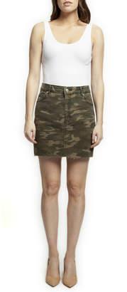 Dex Washed Camo Mini Skirt
