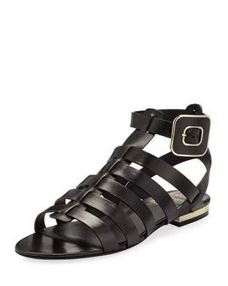 Roger Vivier Mini Buckle Flat Strappy Sandals