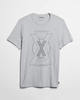 Express Reflective Layered X Graphic Tee