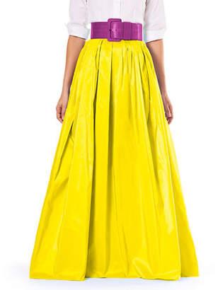 Carolina Herrera Finale Silk Ball Skirt w/ Train