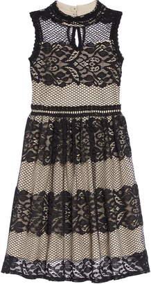 Blush by Us Angels Lace & Mesh Trim Dress