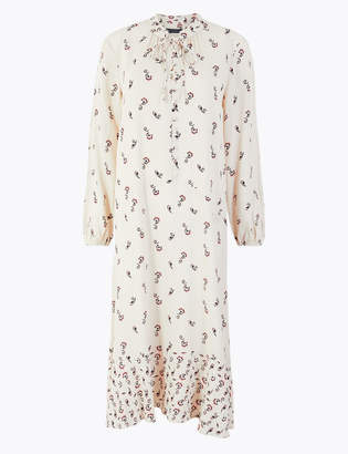 Marks and Spencer Printed Relaxed Midi Dress