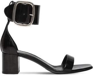 Saint Laurent 50mm Loulou Eel Leather Sandals