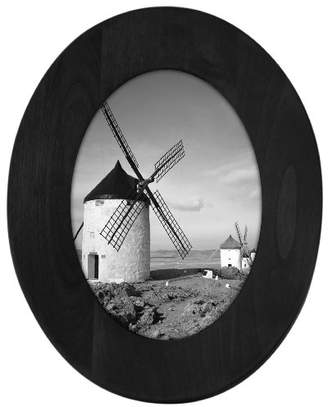 Malden International Designs Classic Oval Black Wood Picture Frame