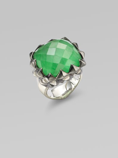 Stephen Webster Green Jade & Sterling Silver Ring