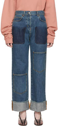 J.W.Anderson Blue Shaded Pocket Jeans