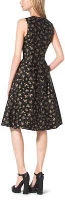 Michael Kors Bouquet Silk-Jacquard Dress