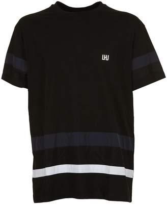 Les Hommes Urban Stripe Detail T-shirt