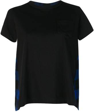 Sacai plaid back T-shirt