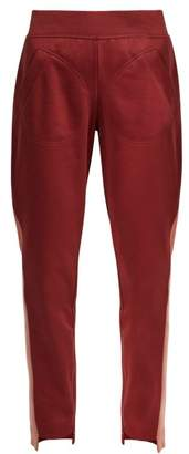 adidas by Stella McCartney Train Cotton Blend Track Pants - Womens - Burgundy