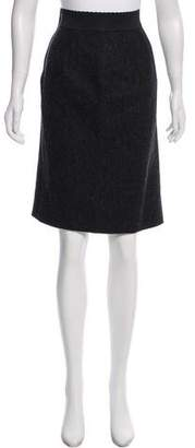 Dolce & Gabbana Herringbone Knee-Length Skirt