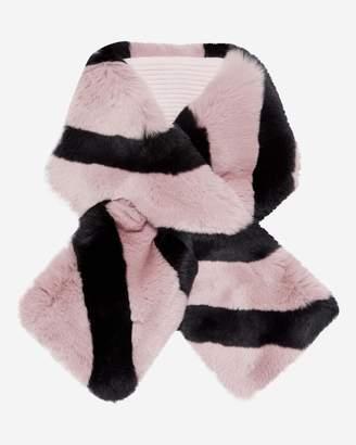N.Peal Striped Fur Neckwarmer