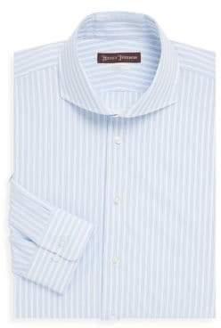 Hickey Freeman Wide Stripe Cotton Dress Shirt