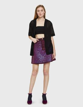 Acne Studios Sharmayne Sequined Denim Skirt