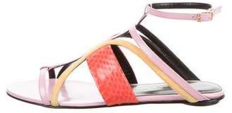 Oscar de la Renta Lexina Colorblock Sandals w/ Tags