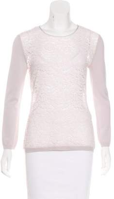 Nina Ricci Wool-Accented Lace Top