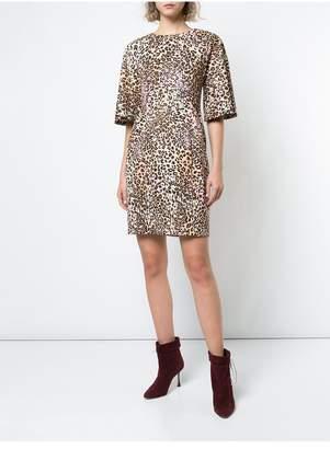 ADAM by Adam Lippes Leopard Print Cotton Mini Dress With Flutter Sleeve