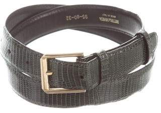 Bottega Veneta Lizard Buckle Belt