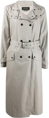 Isabel Marant high standing collar trench coat