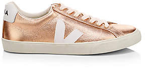 Veja Women's V-10 Esplar Metallic Leather Sneakers