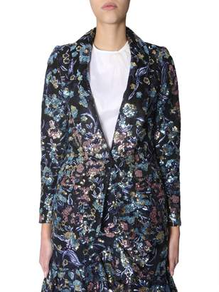Self-Portrait Self Portrait Jacket With Floral Embroidery