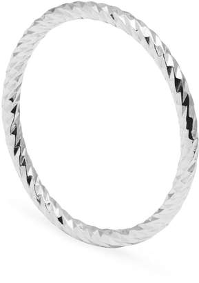 Myia Bonner Silver Diamond Faceted Ring