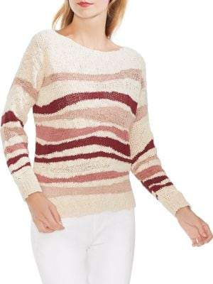 Vince Camuto Oasis Bloom Striped Knit Sweater