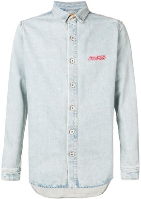 Heron Preston denim shirt jacket