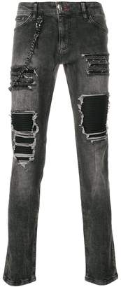 Philipp Plein distressed jeans