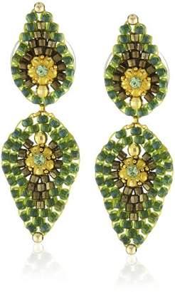 Miguel Ases Small Lotus Petal Drop Earrings