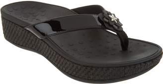 Vionic Embellished Leather Thong Sandals - Mimi