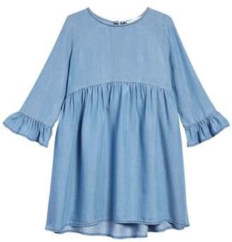 Tucker + Tate Ruffle Sleeve Chambray Dress (Toddler Girls, Little Girls & Big Girls)
