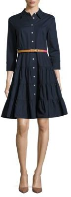 Eliza J Solid Button-Down Shirtdress $148 thestylecure.com