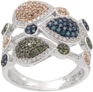 Affinity Diamond Jewelry Multi-Colored Diamond Ring, 3/4 cttw, Sterling, by Affinity