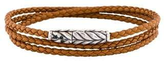 David Yurman Chevron Leather Triple Wrap Bracelet