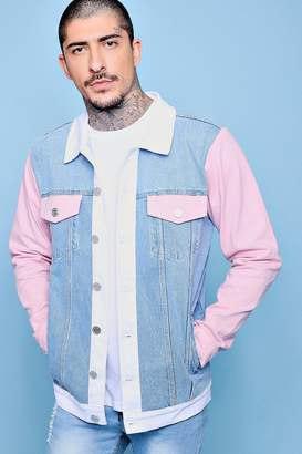boohoo Colour Block Denim Jacket