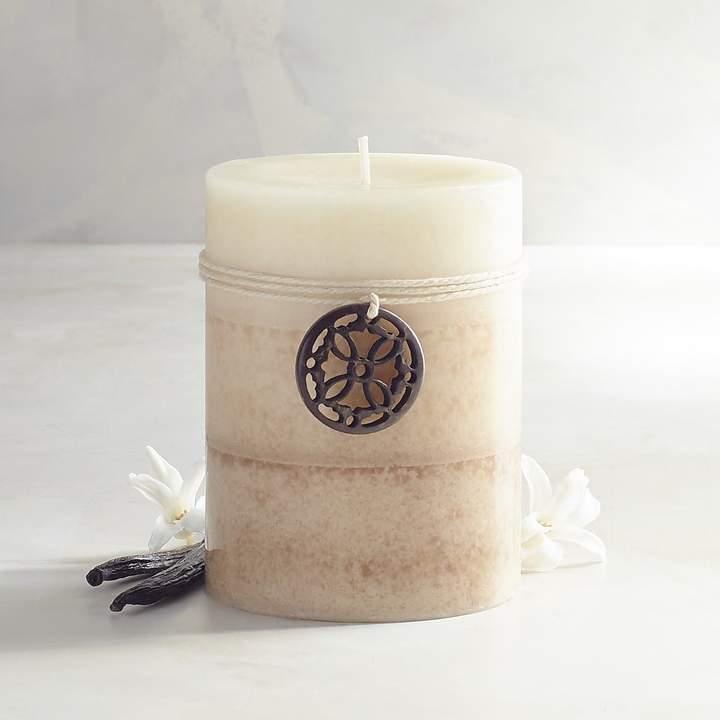 Cuban Vanilla Layered 3x4 Pillar Candle