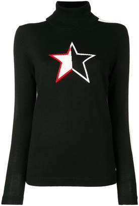 Bella Freud turtle neck star jumper