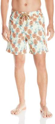 Maaji Men's Pineapple Print E-Board Swim Trunk