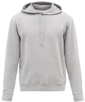 Sunspel Cotton Jersey Hooded Sweatshirt - Mens - Grey